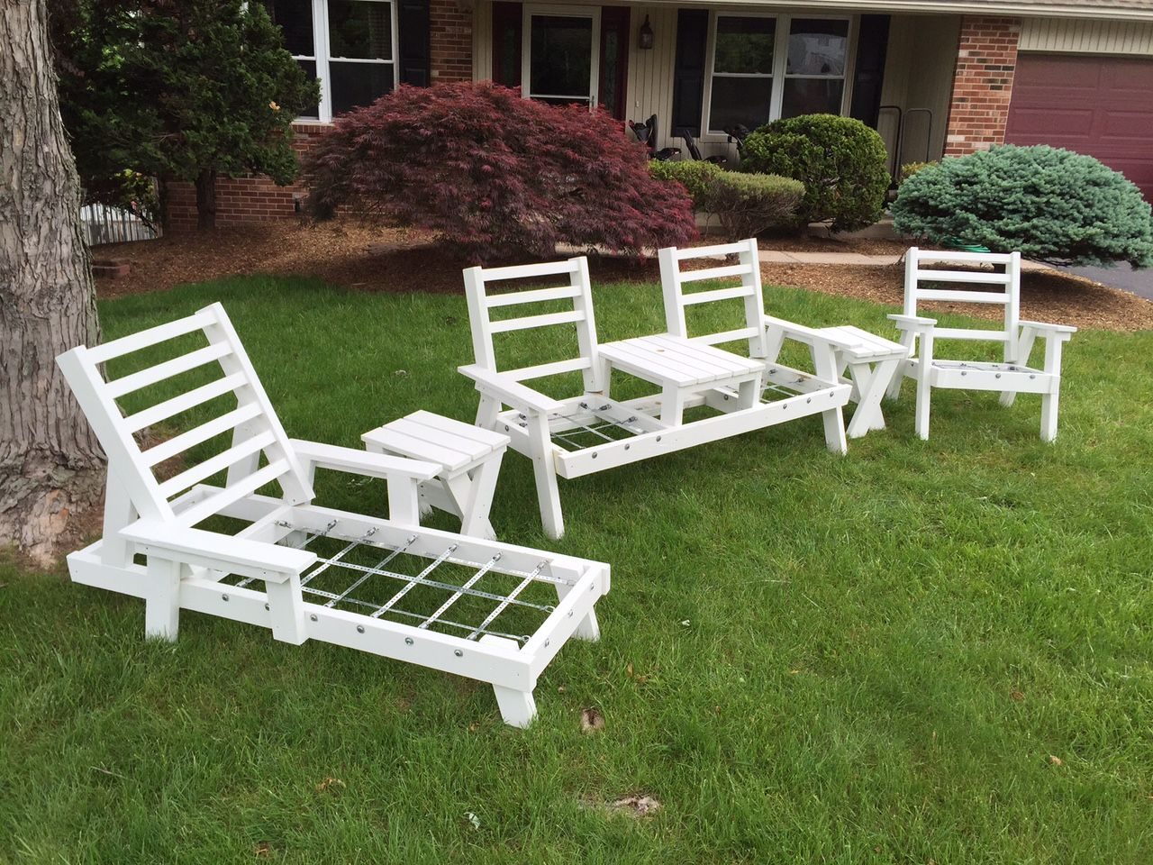 Vintage Redwood Style Patio Furniture With Images Summer Decor