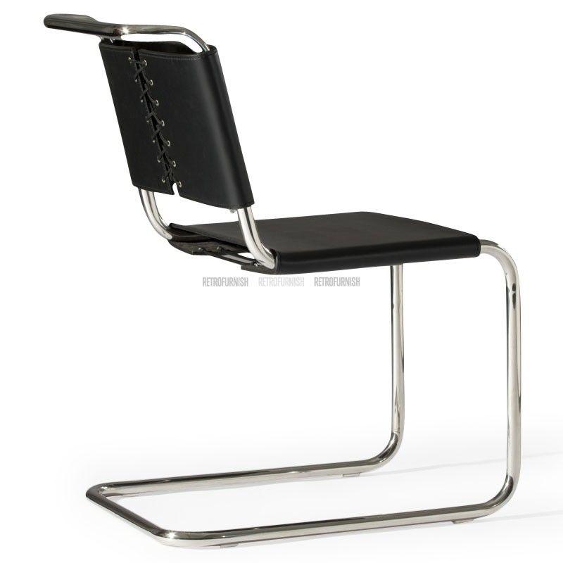 Chaise s33 inspiration de mart stam reproduction de for Reproduction meuble design