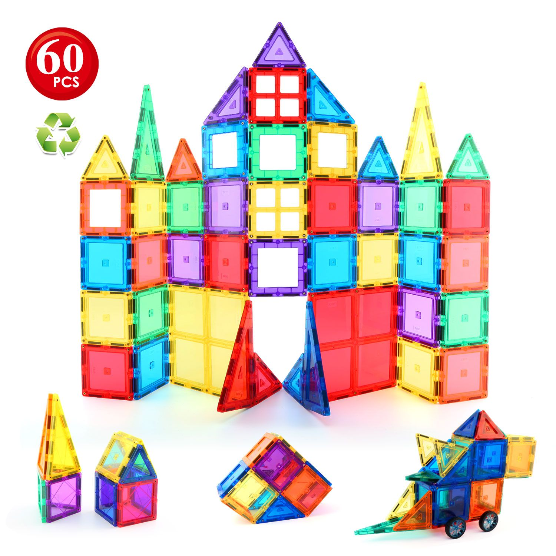Children Hub 60pcs Magnetic Tiles Set Premium Quality