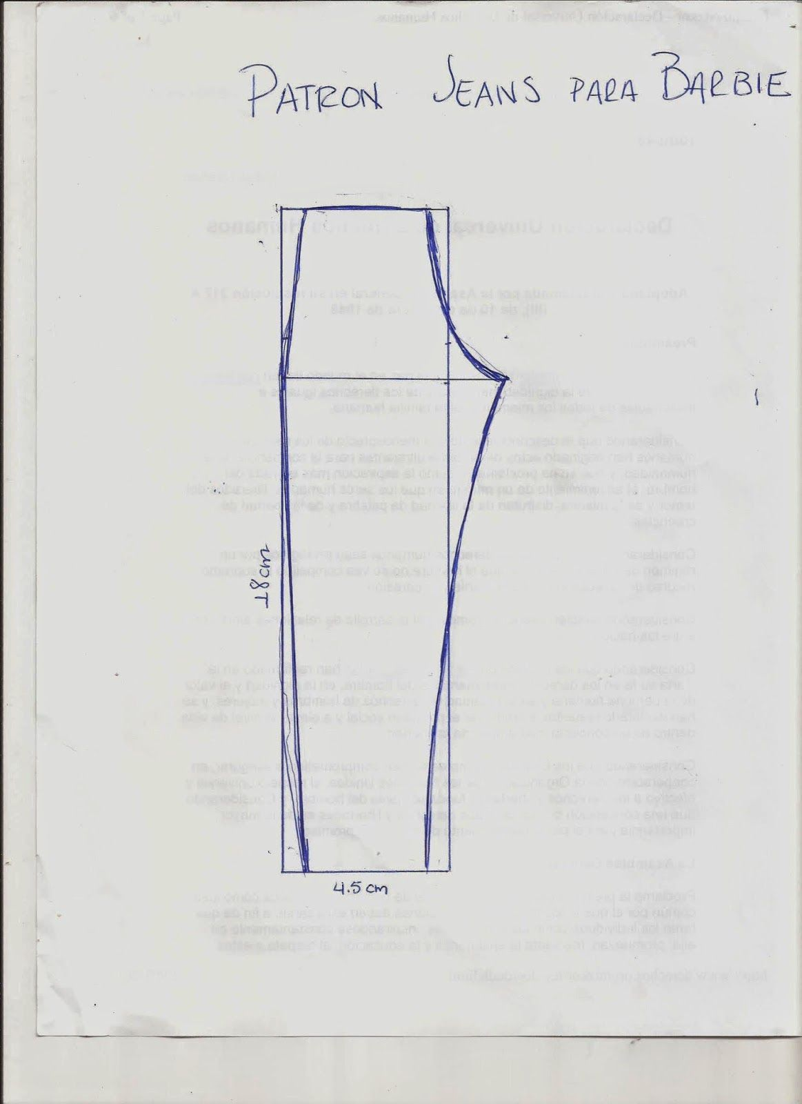 patron de jeans para barbie - Cerca con Google | Vestidos para ...