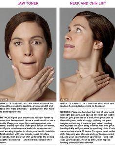 Face exercise   hairstyles   Face exercises, Facial yoga