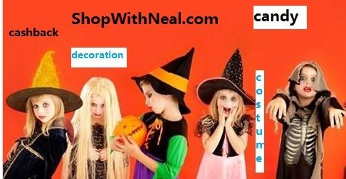 shop at ShopWithNeal.com and earn Extra #cashback for #costume #candy #halloween