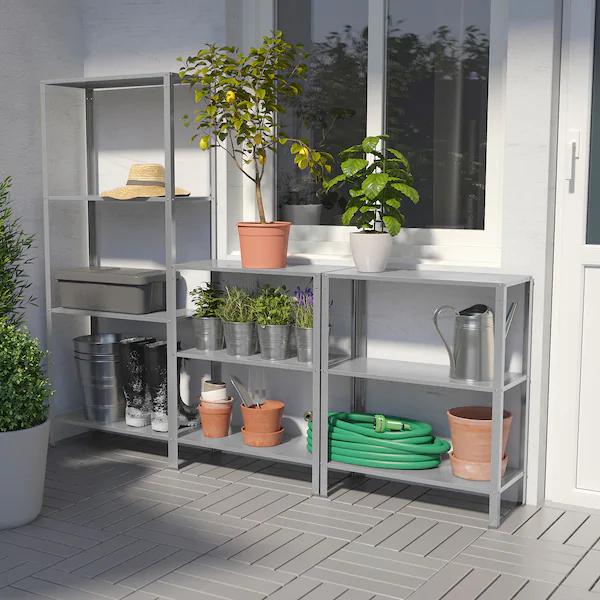 Shelving unit, Width: 254 cm IKEA
