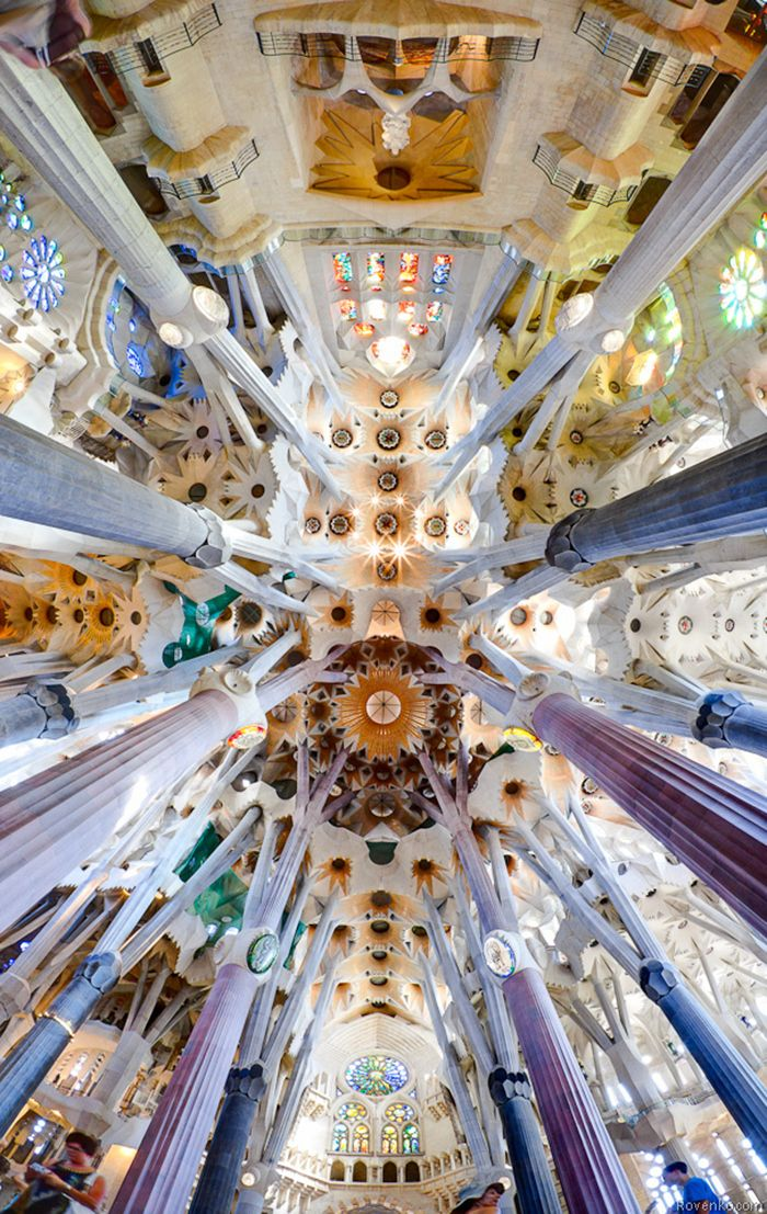 Sagrada familia gaudi sagrada familia interior - Arquitectura barcelona ...