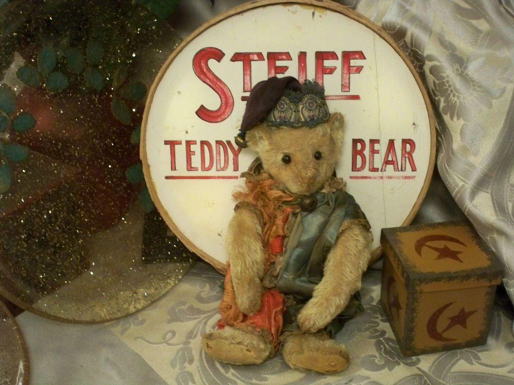 """ANTIQUE STEIFF 1907 RARE WHITE 10"""" TEDDY BEAR NEEDS LOVING FOREVER HOME!"""