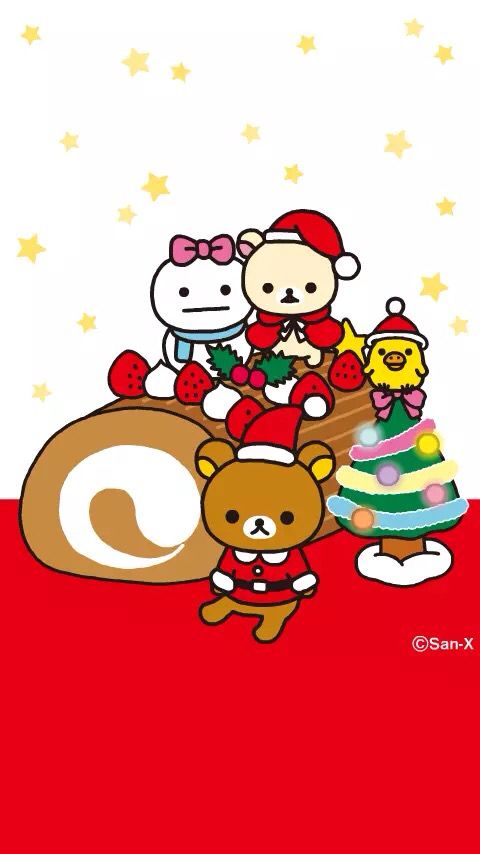 Rilakkuma Christmas Wallpaper Rilakkuma Wallpaper Rilakuma Wallpapers Christmas Wallpaper Ipad
