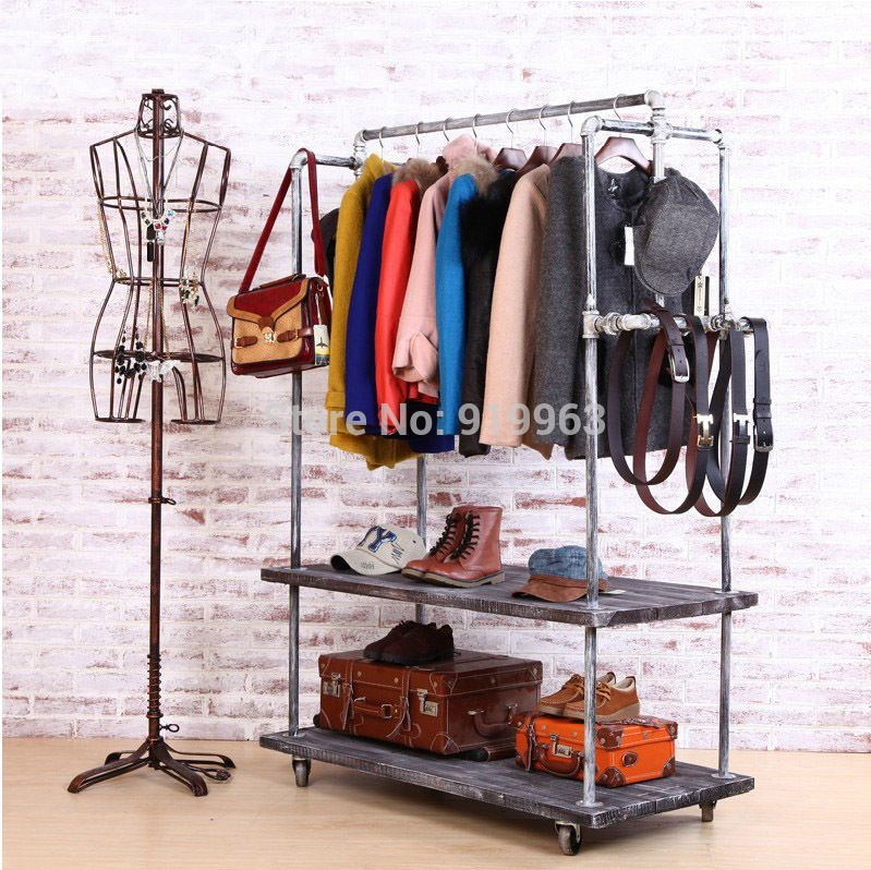 The clothing rack industrial style do old