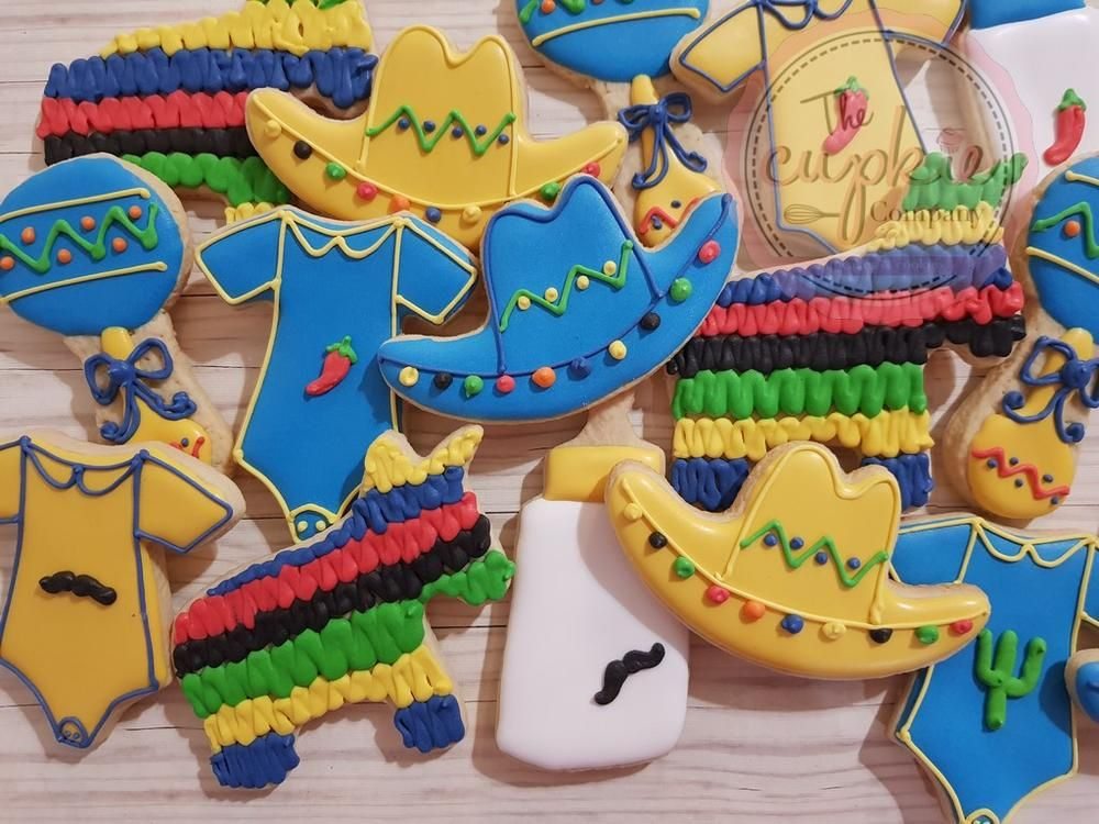 Boy Baby Shower Mexican Theme Cookie Artist Dora Lilia Mexican