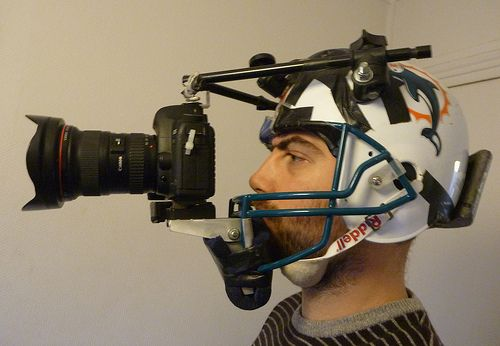 Homemade Football Helmet Camera Rig....to capture all of your awesome tailgate memories....especially when it gets rowdy!  #UltimateTailgate #Fanatics