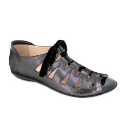 BeautiFeel Edyta Lace-up Shoe - Silver Mesh #BeautiFeel