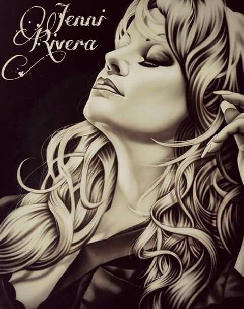 Jenni Rivera Beauty Art Drawings Chicano Art Chicano