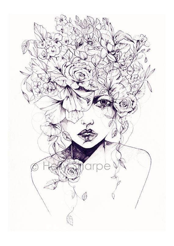 Flower Fro Limited Edition Giclee Print From An Original Pencil