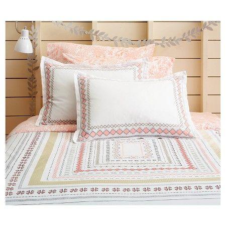 Neutral Pastel Geo Border Comforter Set Full Queen Multicolor Xhilaration Target Comforter Sets Boho Bedding Sets Target Bedding Sets
