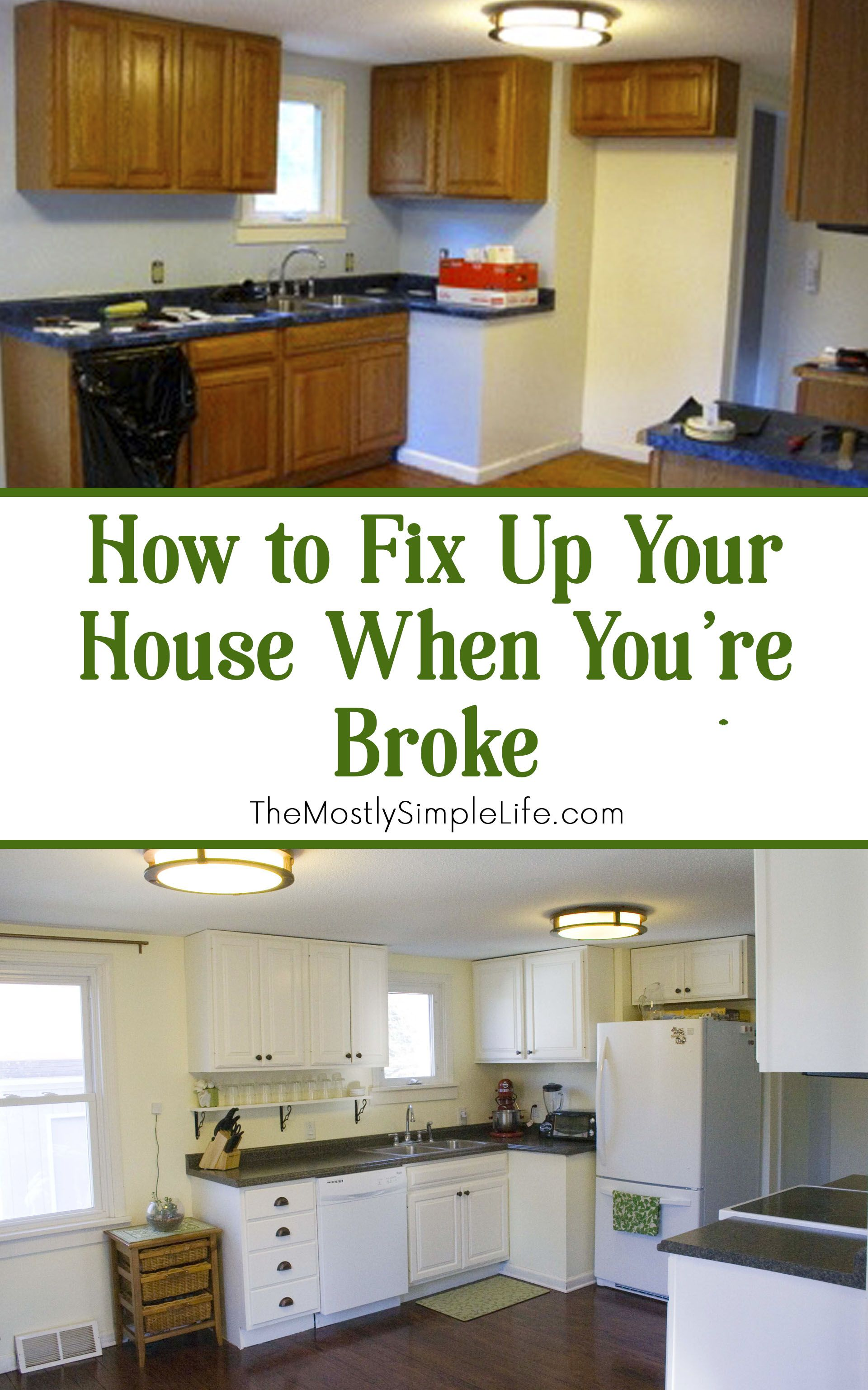 how to fix up your house when you u0027re broke remodeled kitchens