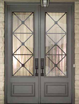Double Entry Door With Glass Panels Front Doors In 2019 Doors