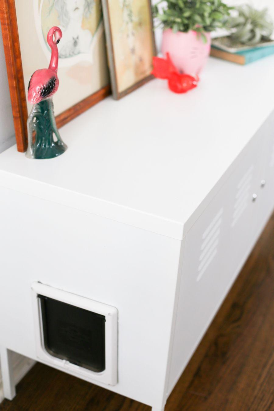 Kitty Litter Box Cabinet Hack Ikea Lockers