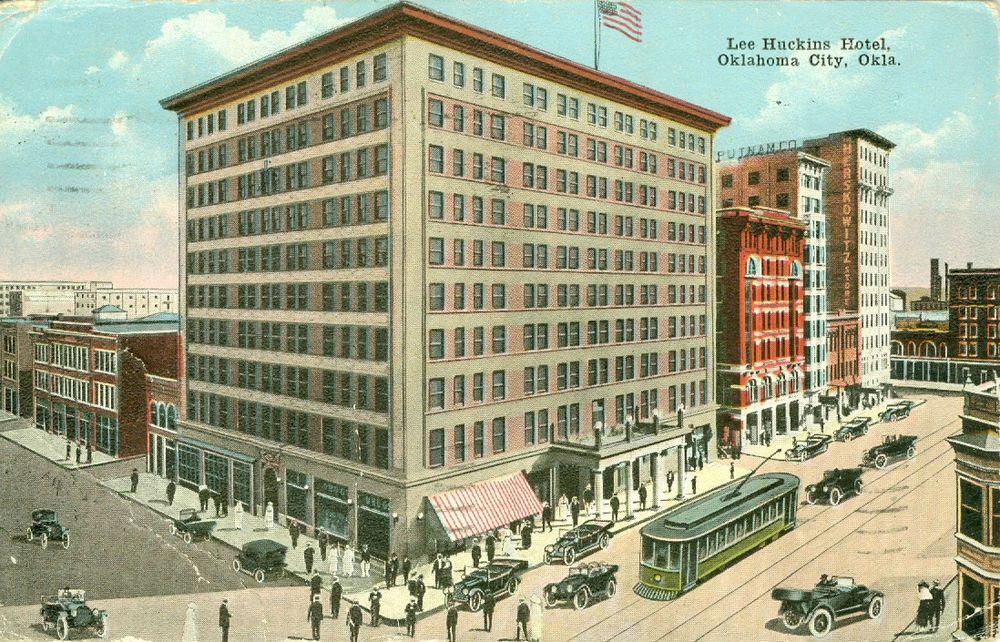 Details About Oklahoma City Ok The Lee Huckins Hotel 1920 City Hotel Oklahoma City
