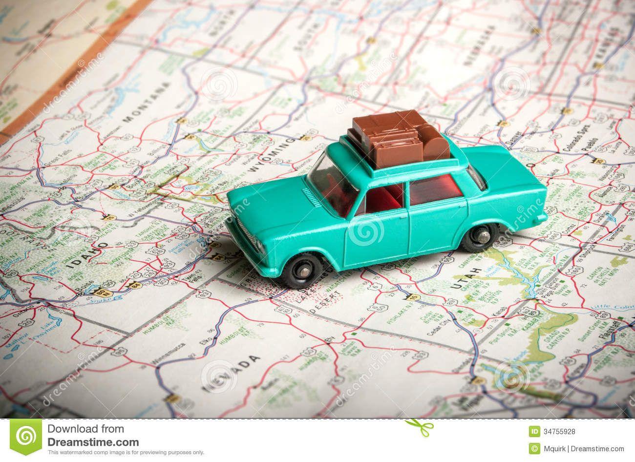 toy-car-road-map-vintage-luggage-roof-u-s-34755928.jpg (1300×946 ...