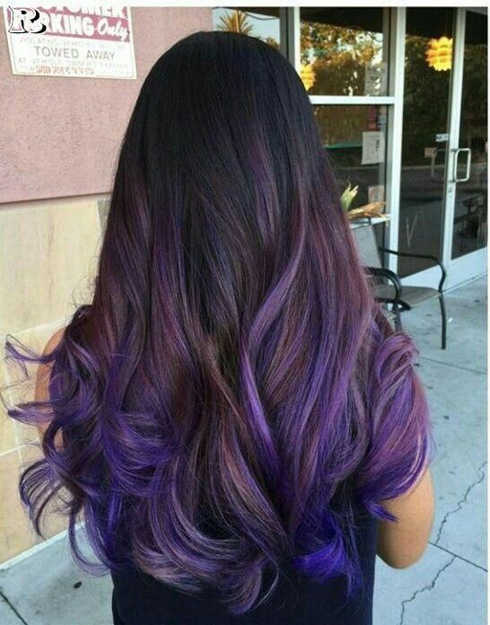 Light Lavender Layers - Purple Ombre Hair Ideas: Plum, Lilac, Lavender and Violet Hair Colors - The Trending Hairstyle