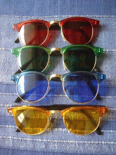 lot de 4 lunettes de soleil style rétro vintage 50 50s 60s 70 hippie party  set eeccea0043b3
