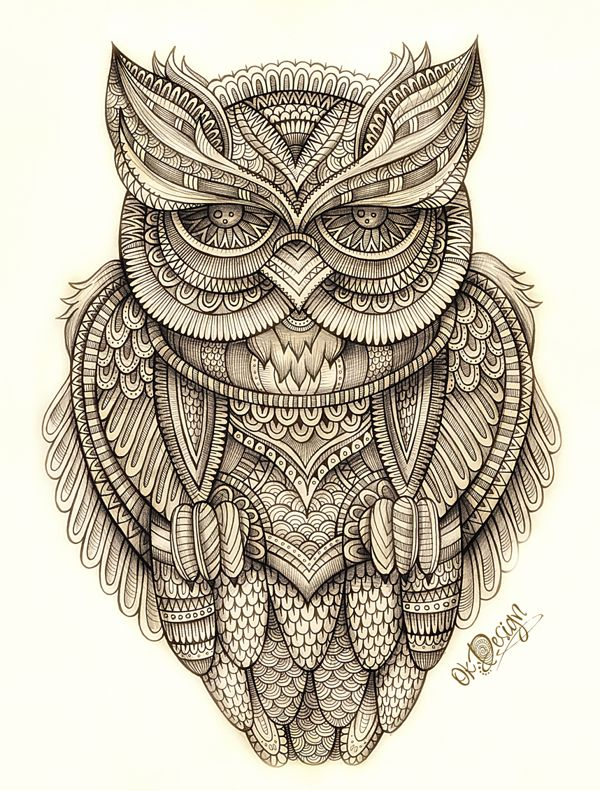 Owl illustration by balabolka, via Behance