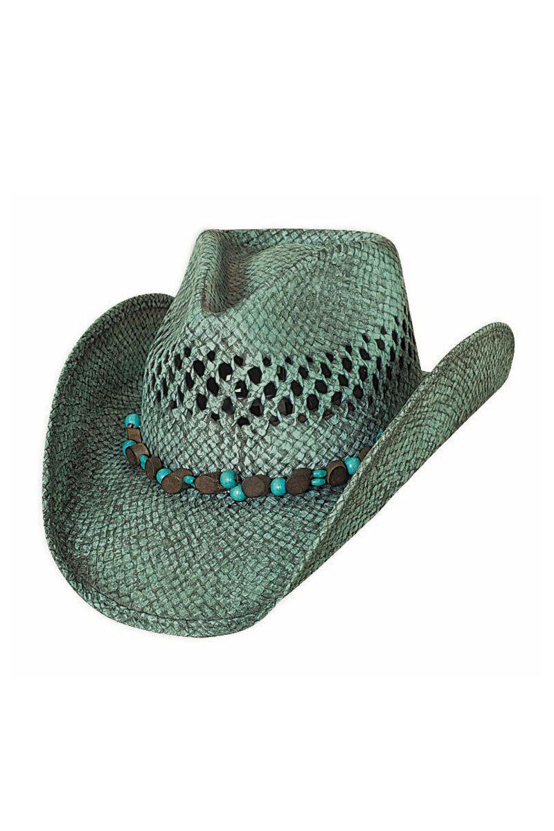 Bullhide Let It Rain Turquoise Straw Cowboy Hat  c5fe945ae84