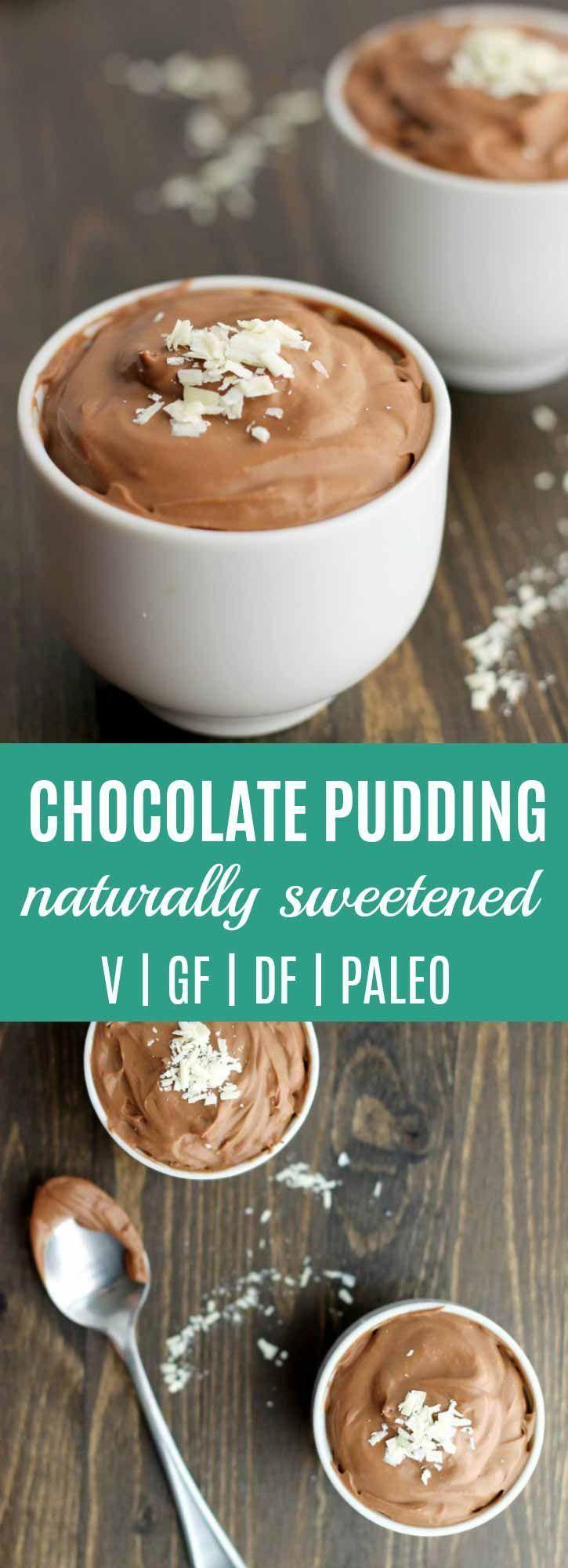 Chocolate pudding recipe coconut milk vegan paleo