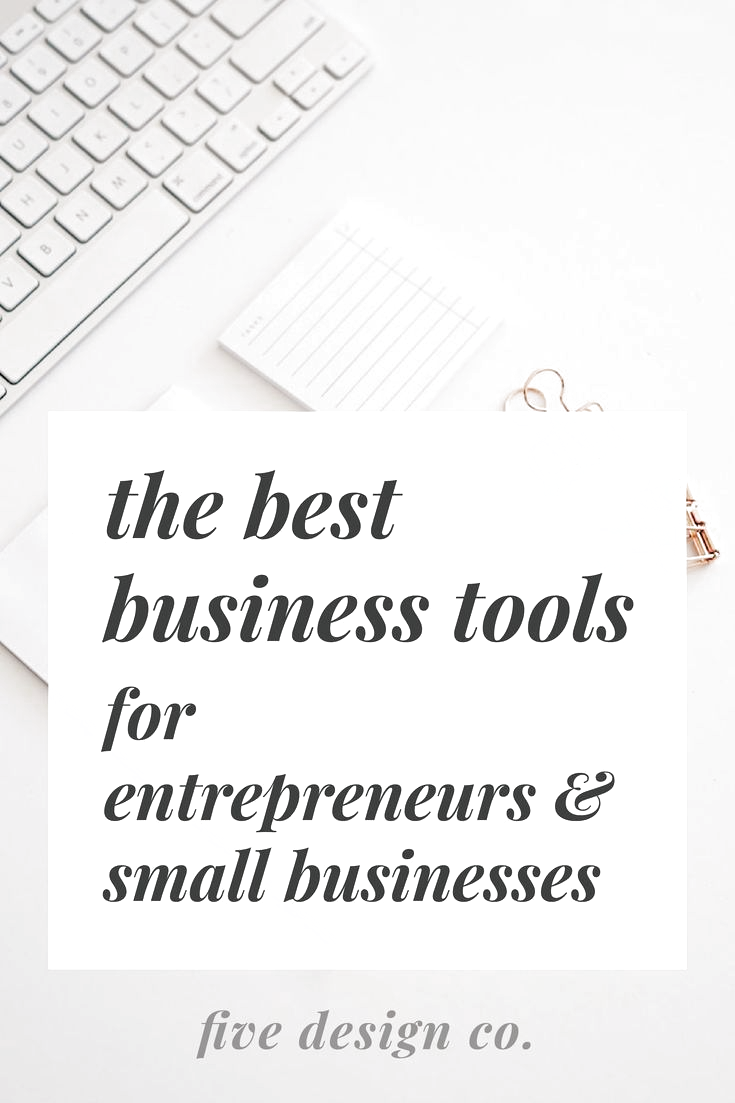 The best business tools for entrepreneurs & small businesses // Our favorite (tried and true!) business tools for small businesses, bloggers, freelancers and entrepreneurs. Use these tools to boost productivity, sales, marketing and enhance website and product design. // Web design & business tips at fivedesign.co #businesstips #productivity #entrepreneur #blogger #freelancer #smallbusiness #entrepreneurtips #business #automation