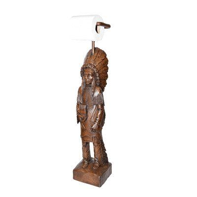 Price: $119.99 & FREE Shipping   Freestanding Cigar Store Indian Toilet Paper Holder Finis...
