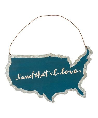 Another great find on #zulily! 'Land I Love' Tin Ornament #zulilyfinds