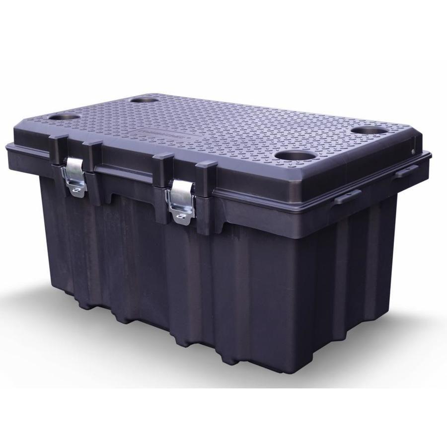 Commander 53 Gallon 212 Quart Black Tote With Latching Lid In 2020 Home Storage Organization Storage Bins Storage Trunk
