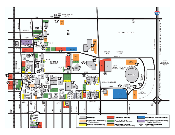 Youngstown State University Campus Map.Bowling Green State University Main Campus Map Maps Local In
