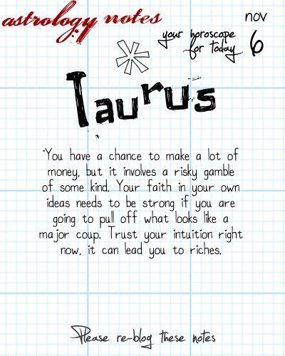 tauruss horoscope for tomorrow