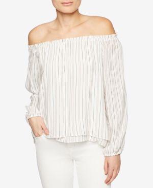 Chantel Off The Shoulder Top - Ainsley Stripe XL