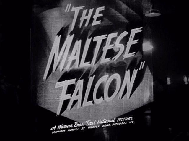 THE MALTESE FALCON Warner Bros. trailer typography