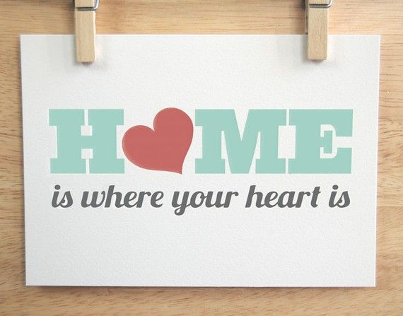Home Is Where Your Heart Is - 5x7 in Blue