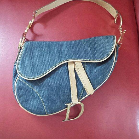 Christian Dior Denim Saddle Bag Dior Saddle Bag Christian Dior Bags Bags