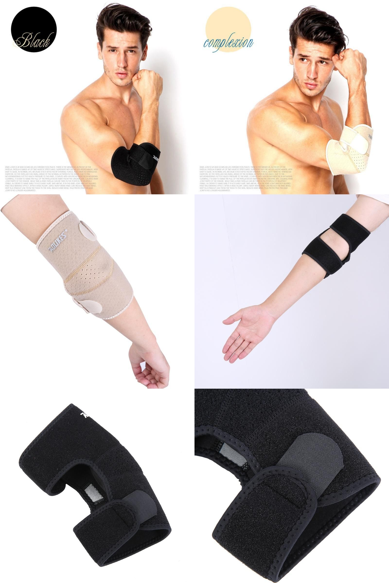 Visit To Buy 1 Pcs Sports Safety Elastic Elbow Brace Sleeve Elbow Pad Volleyball Protection Elbow Support Advertisemen Elbow Braces Elbow Support Elbow Pads