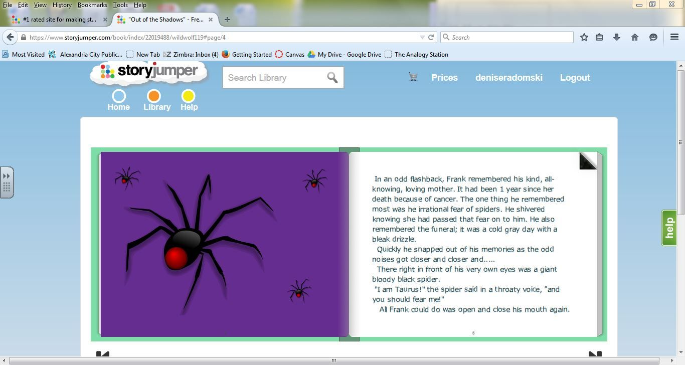 Use story jumper to get students interested in writing