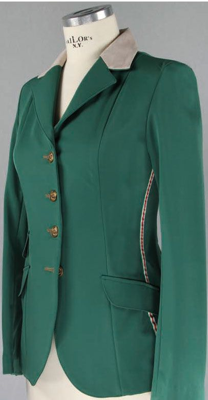 Green Hunt Coat Manfredi Equestrian Chic Horse Show Clothes Equestrian Outfits