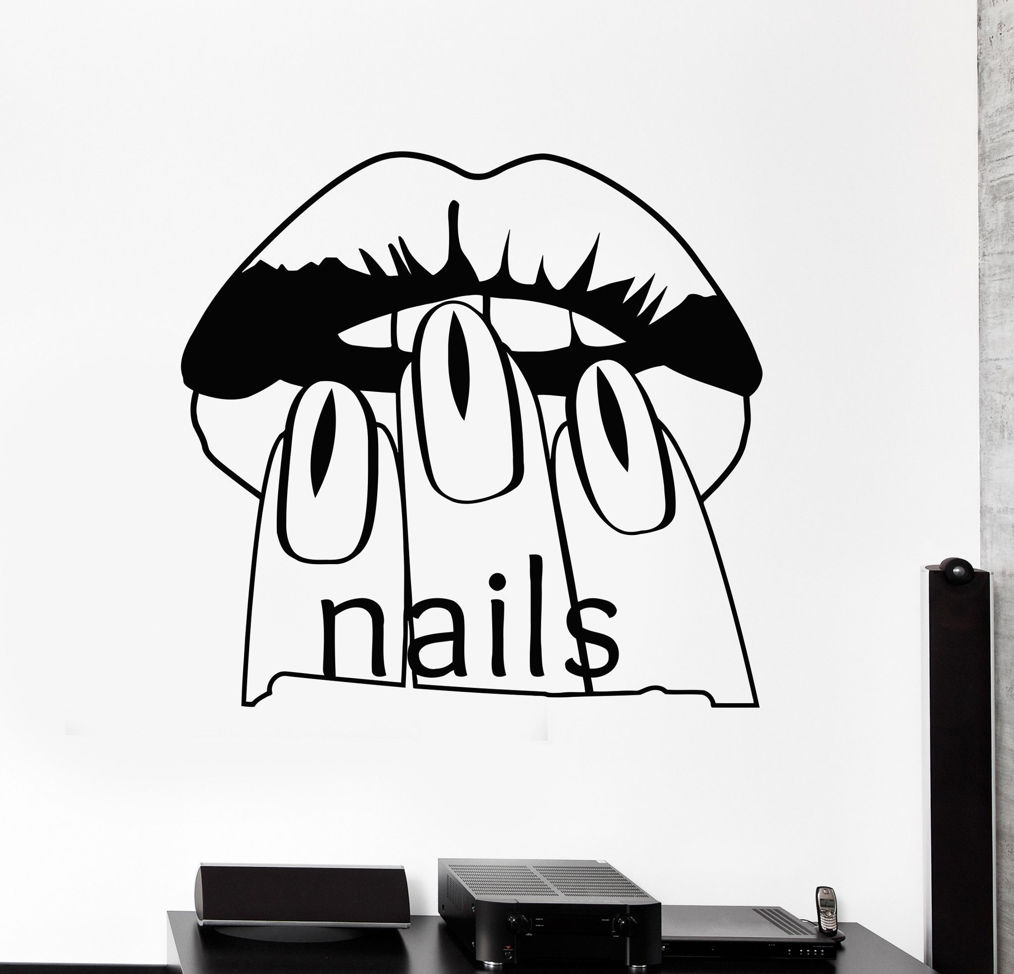 Vinyl Wall Decal Nail Salon Beauty Woman Manicure Spa Stickers ...