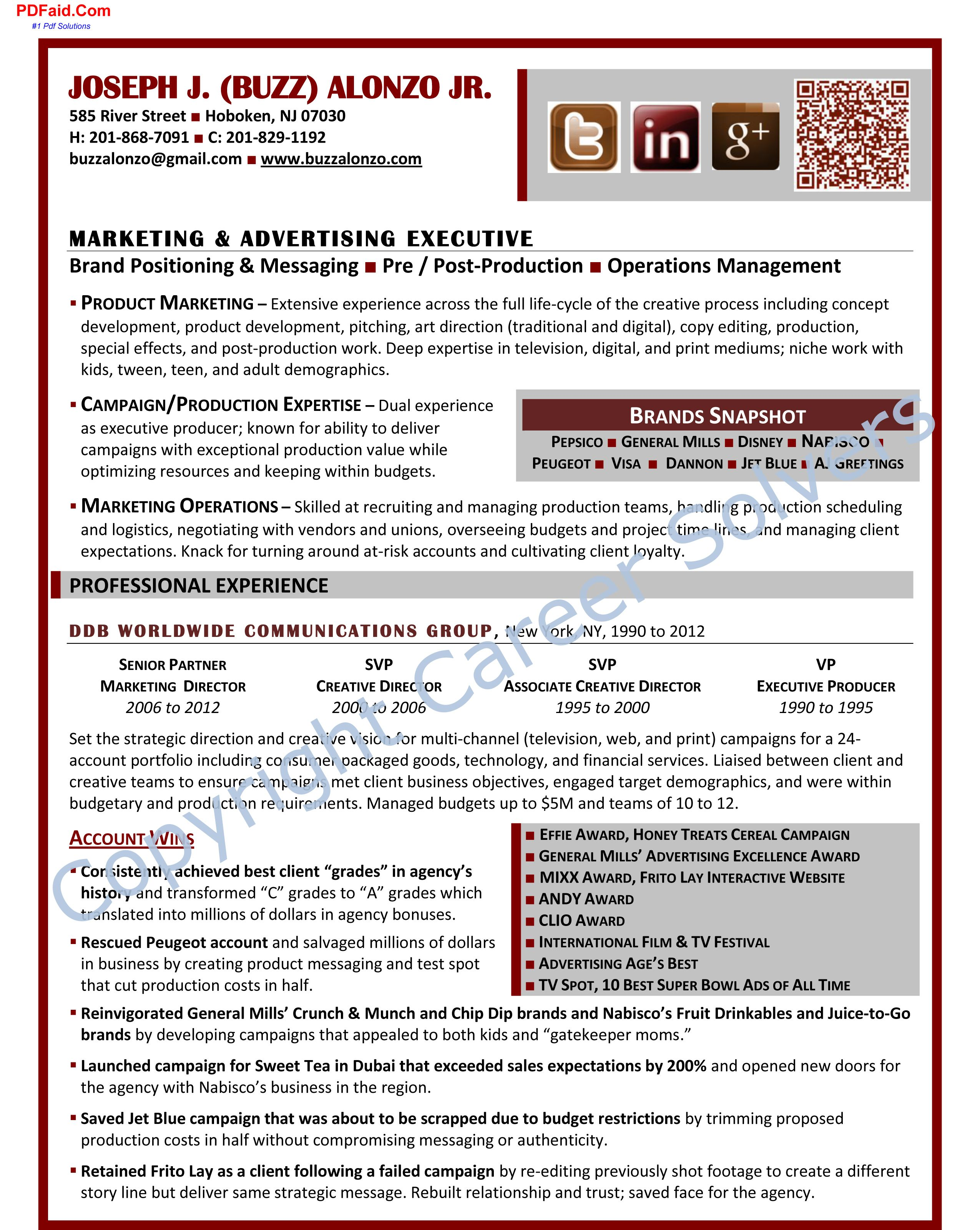 Advertising Executive | Cover letter for resume, Sample ...