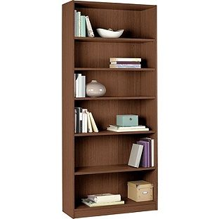 Buy Maine Tall And Wide Extra Deep Bookcase Walnut Effect At