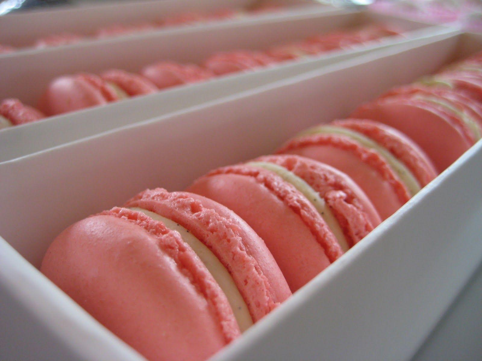 Pink macaroons. Yum!