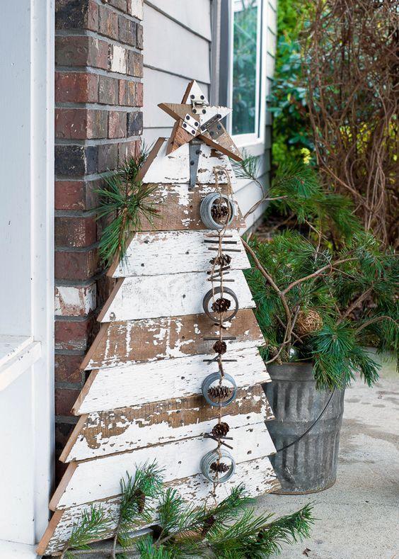 Photo of 35 Creative Reclaimed Wood Christmas Decoration Ideas – Interior