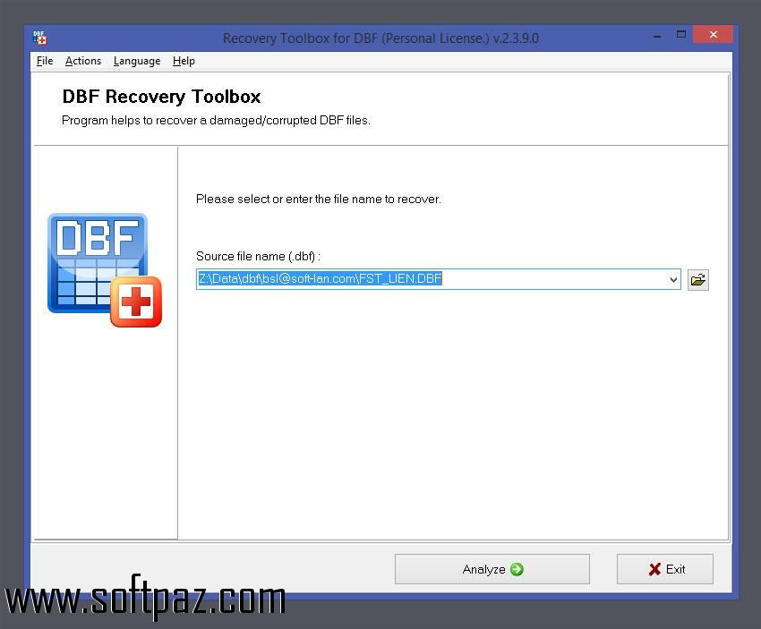 Getting Recovery Toolbox for DBF setup was never this easy