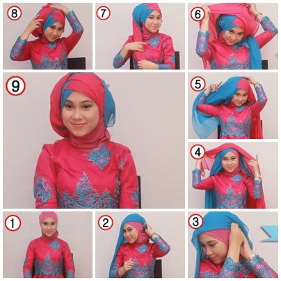 Tutorial Hijab Untuk Kebaya 2 Hijab Pesta Gaya Rambut Bob