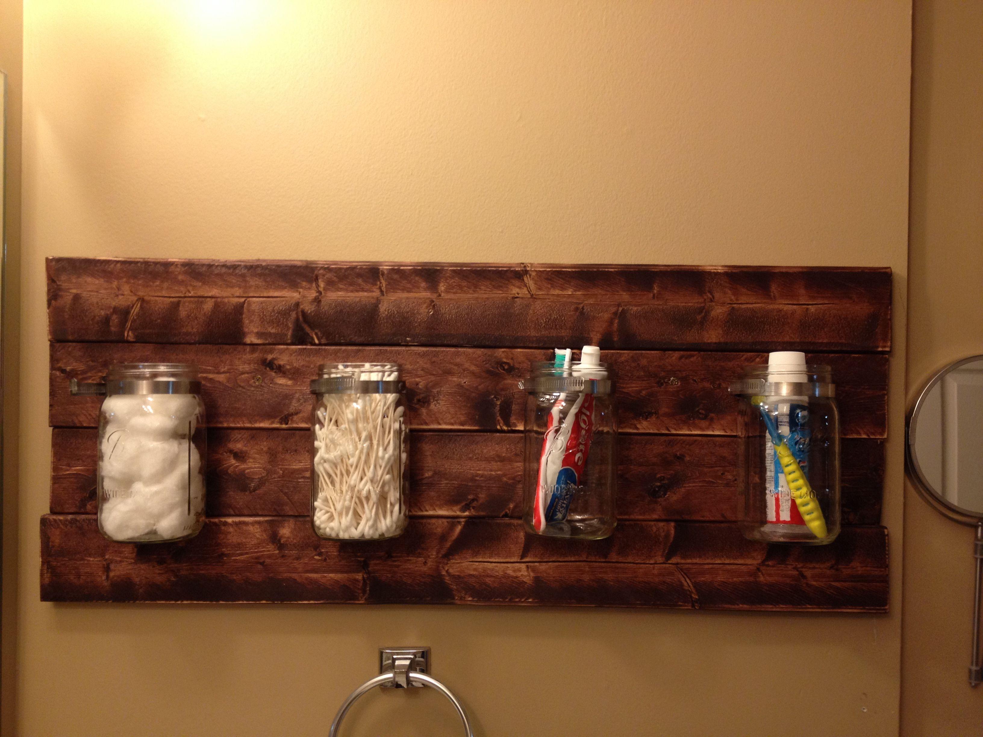 Camo bathroom decor - Bathroom Mason Jar Holder