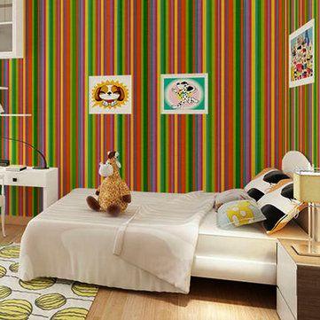 Waterproof Stripe Wallpaper Self Adhesive Wardrobe Door Kitchen Wall Stickers Price 19 98 Free Shipping Wallstickerforbedroom Wallstickerforlivin
