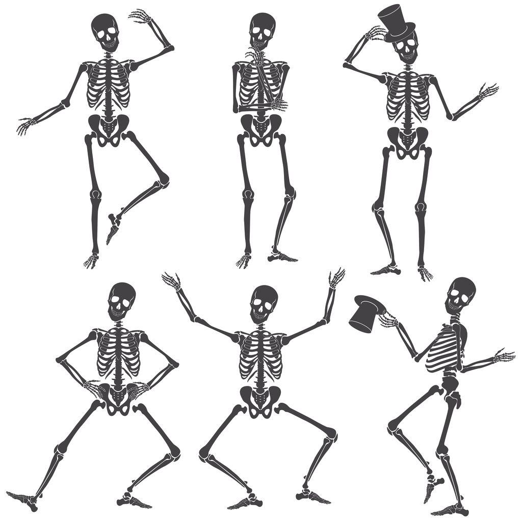 Illustration Of Dancing Skeletons Skeleton Tattoos Skeleton Drawings Skeleton Illustration